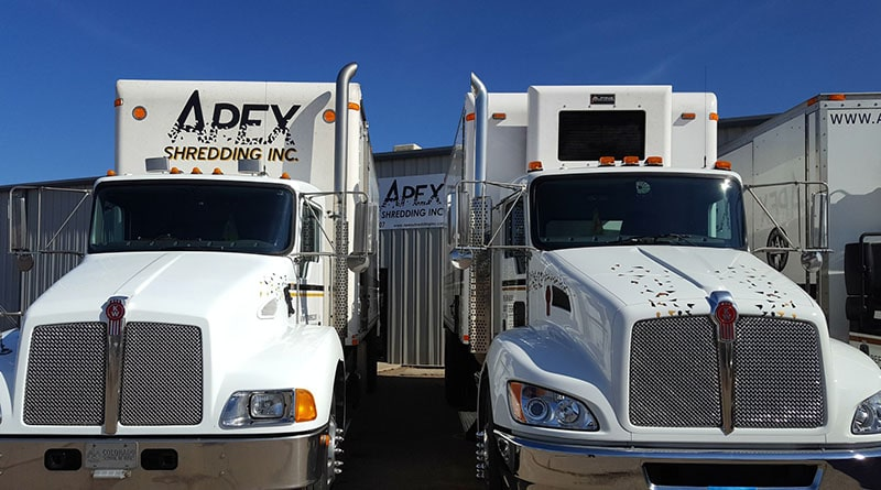 Apex Shredding Trucks serve northern Colorado