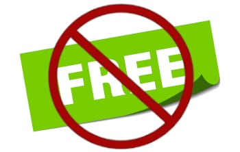 free square sticker. free sign. free banner with do not symbol on top